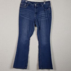 Faded glory flare Jean's size 16W